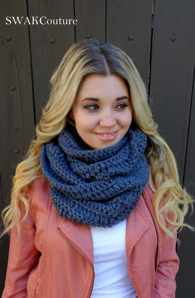 Womens Scarf Chunky Scarf Oversized Infinity Scarf Chunky Cowl Circle Scarf Handmade Eternity Scarf Terracotta or CHOOSE Your Color