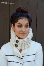 Thick scarf neckwarmer cowl handmade women's scarf