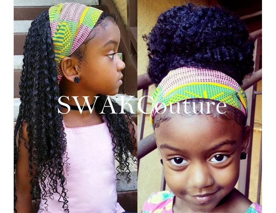 TODDLER/CHILD Satin Lined Headband Wrap - (17 prints)
