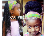 TODDLER/CHILD Satin Lined Headband Wrap - (13 SOLID COLORS)