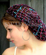 LACE Slouchy CAP - Pink Blue or CHOOSE Color