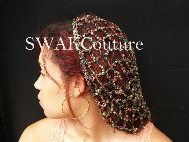 Lace Slouchy Cap - Silver or CHOOSE Color
