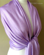 Lavender Purple Wedding Pashmina Scarf Bridal Shawl - or CHOOSE Your Color