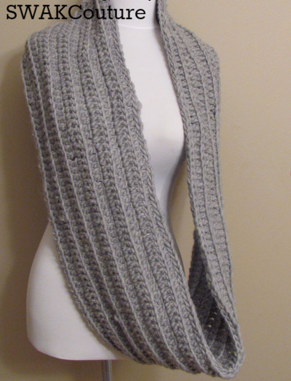 Eternity Chunky Scarf Handmade Scarf Wool Scarf Unisex Scarf Fashion Scarf Handmade Infinity scarves Affordable Scarves Scarves for men Knit Scarf Crochet Scarf Snood