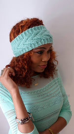 Chevron Knit Head Wrap - Mint or Choose color