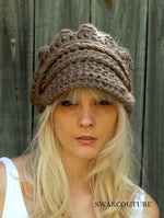 Aliyah Slouchy Newsboy Cap - Mortar or CHOOSE color