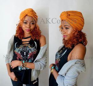 Knot Jersey Turban - Black