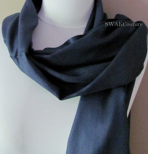 Wedding Pashmina Navy Blue Scarf Bridal Shawl - or CHOOSE Your Color