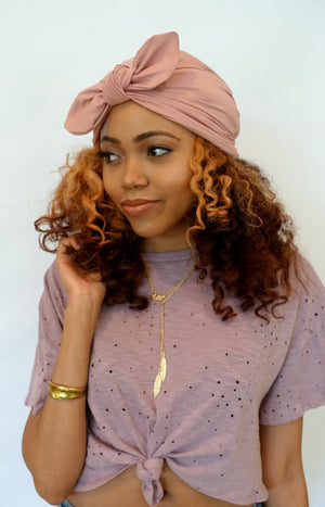 Turban caps bow knot turbans for natural curly hair