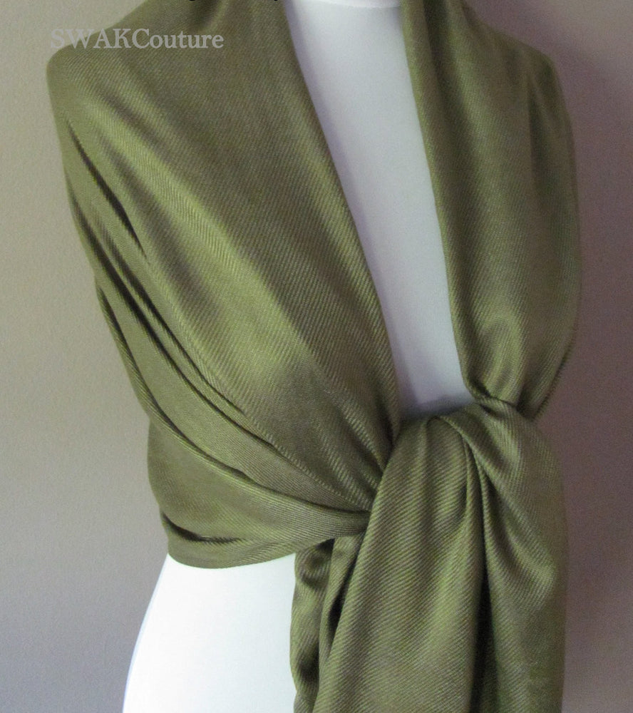 Wedding Pashmina Sage Green Scarf Bridal Shawl Wrap - or CHOOSE Your Color