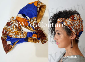 TAJ MAHAL Satin Lined Headband Wrap