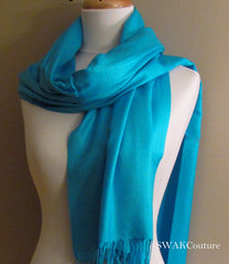 Turquoise Blue Wedding Pashmina - or CHOOSE Your Color