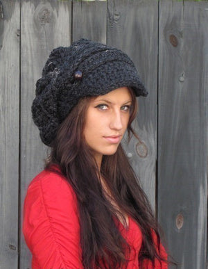 Aliyah Slouchy Newsboy Cap - Wood or CHOOSE Color