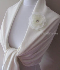 Wedding Pashmina White Scarf Bridal Shawl Wrap - or CHOOSE Your Color