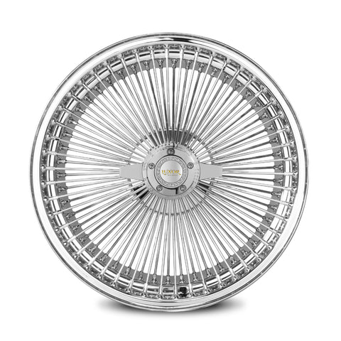 17X8 FWD 100 STRAIGHT<br> LACE CHROME