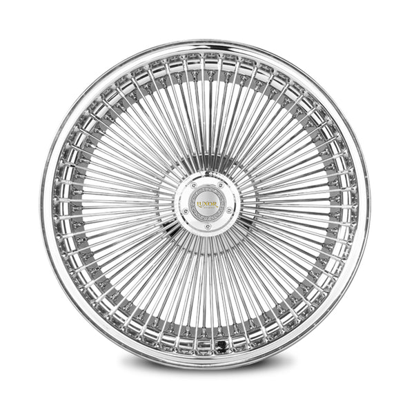 18X8 FWD 100 STRAIGHT<br> LACE CHROME