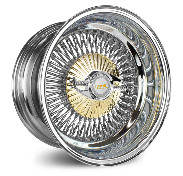 15X8 REV 80 BOLT ON <br>GOLD DESIGNED CAP