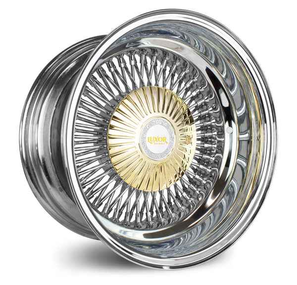 14X7 REV 80 BOLT ON <br>GOLD DESIGNED CAP