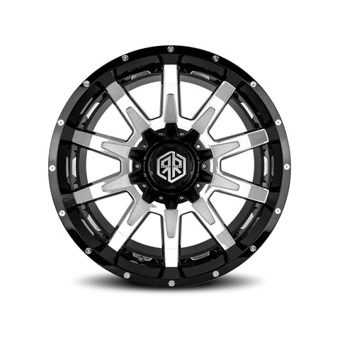 ROAD RAGE HANA 20X12</br>BLACK MACHINED WHEELS