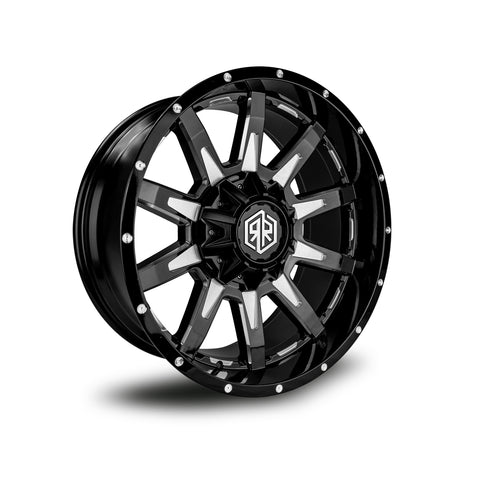 ROAD RAGE HANA 20X10</br>BLACK CONTRAST WHEELS
