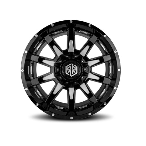 ROAD RAGE HANA 22X12</br>BLACK CONTRAST WHEELS