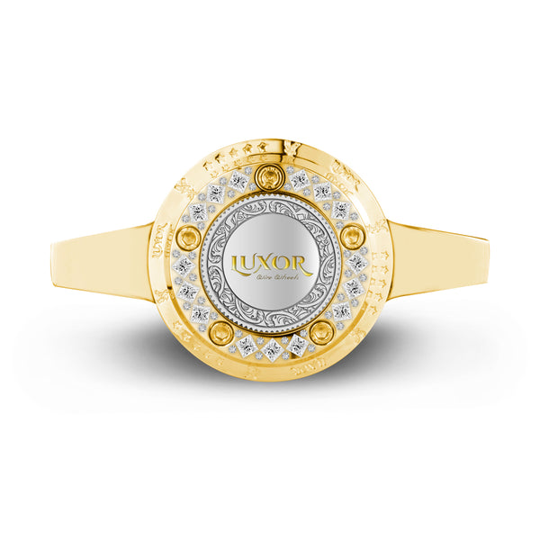 NEW 2 BAR KNOCK OFF GOLD</br>HIGH ROLLER DIAMOND LUXOR