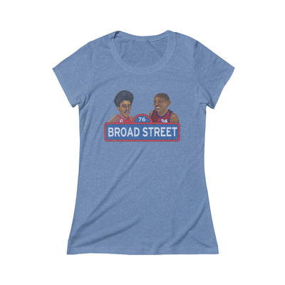 Broad Street Hoops Triblend Womens Short Sleeve Tee