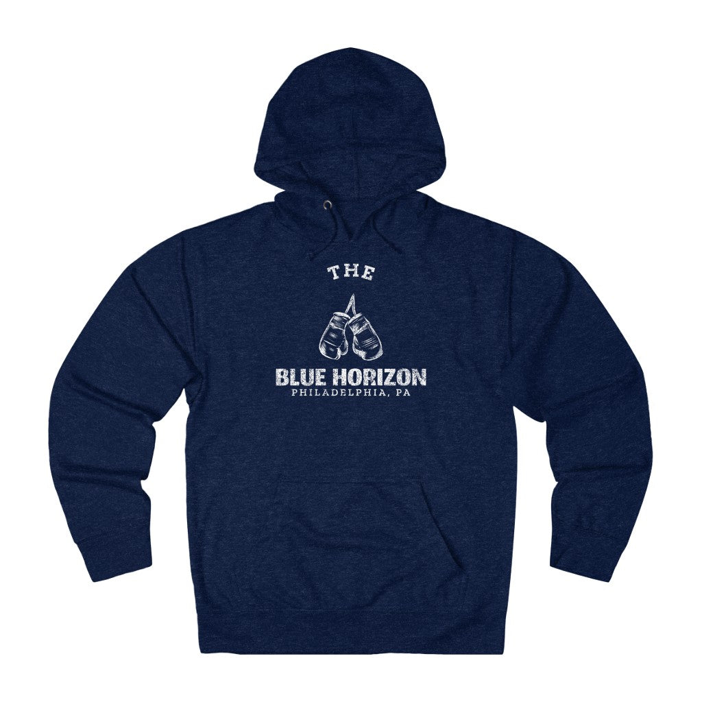 Retro Inspired The Blue Horizon Boxing Unisex French Terry Hoodie