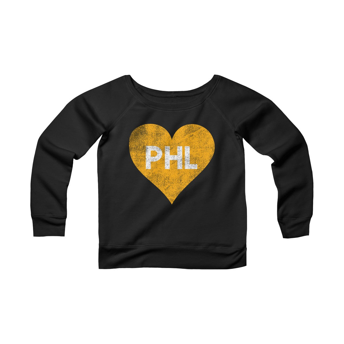 PHL Hockey Love Women's Sponge Fleece Wide Neck Sweatshirt