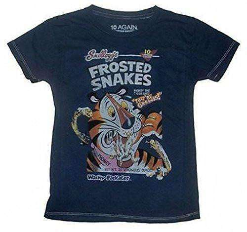 10 Again Wacky Packages Frosted Snakes Vintage Style Boys T-Shirt - Generation T
