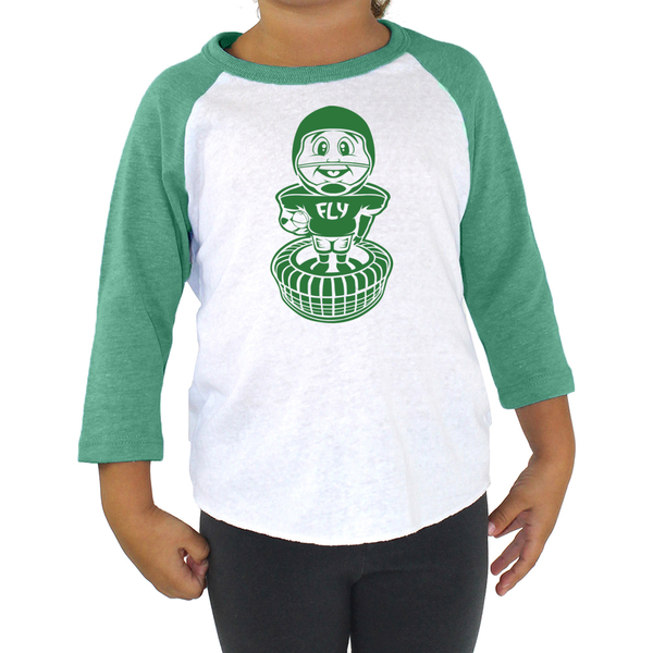 Philly Football Bobblehead Tri Blend Toddler Raglan