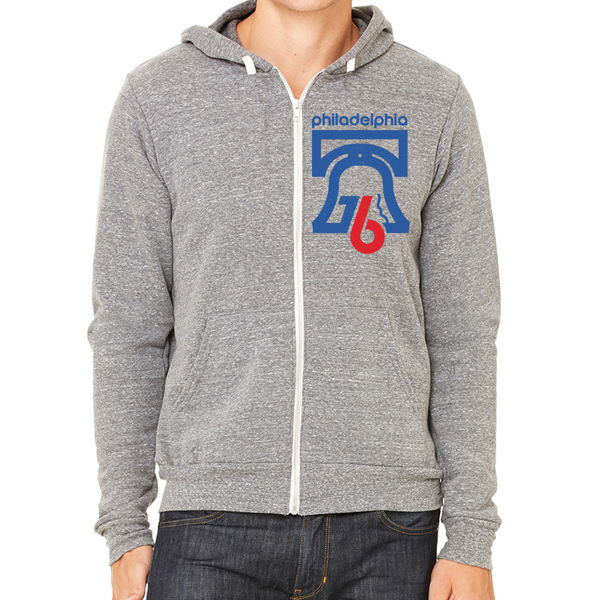 Retro Philadelphia 1976 Soft Zip Up Hoodie