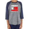 Trust the Process Youth Tri Blend Baseball Raglan