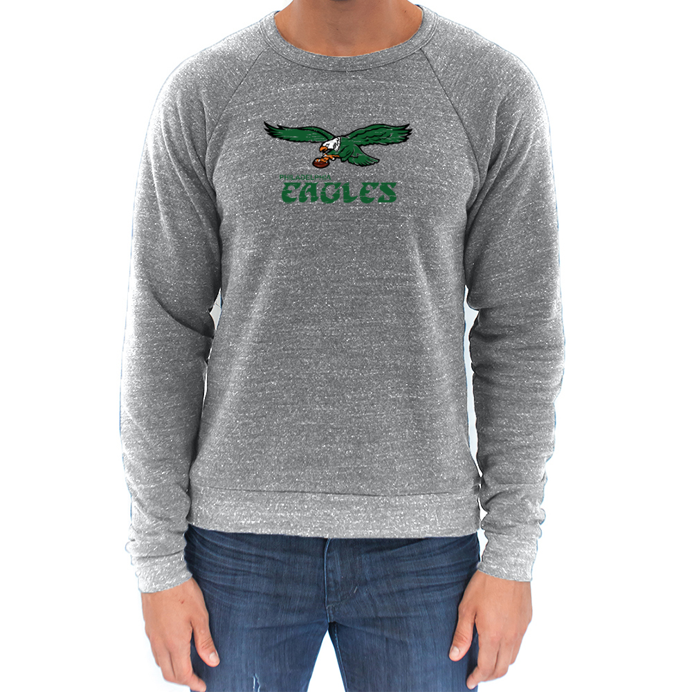 Retro Philadelphia Eagles Inspired Super Soft Unisex Tri Blend Sweatshirt - Generation T
