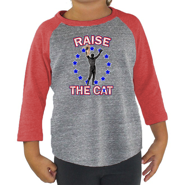 Retro Raise The Cat Toddler TriBlend Raglan