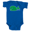 Retro Pucky The Whale Whalers Inspired Blue Bodysuit