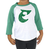 Retro Old School E Toddler Tri Blend Raglan