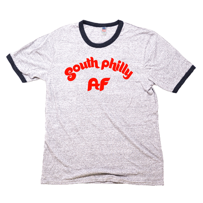 South Philly AF Unisex Tri Blend Premium Ringer Tee