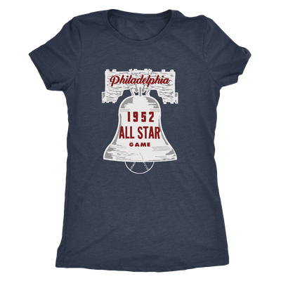 1952 All Star Game in Philadelphia Ladies Tri Blend T-Shirt - Generation T