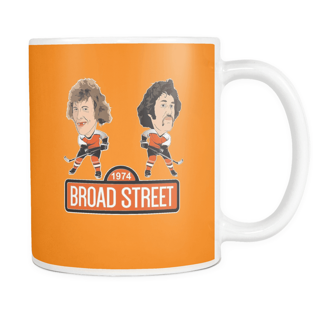 1974 Broad Street Hockey Orange Coffee Mug