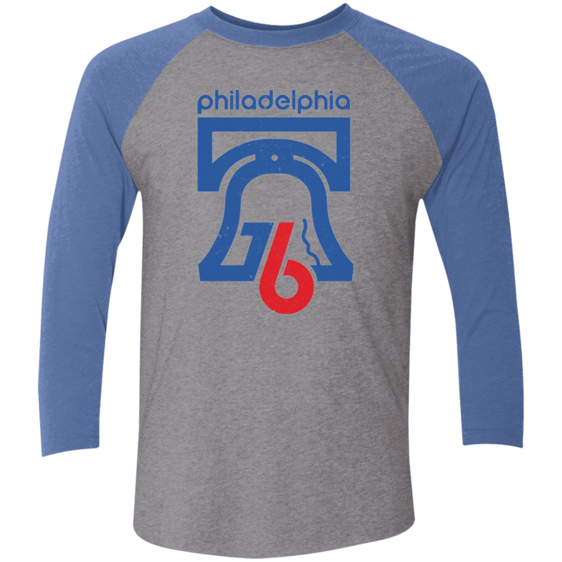 1976 Philadelphia Retro Tri-Blend 3/4 Sleeve Baseball Raglan T-Shirt - Generation T