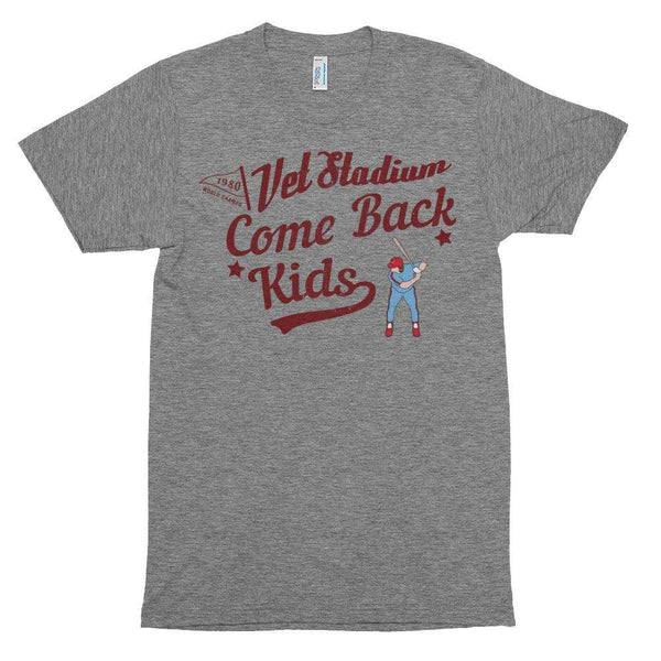 1980 Phillies Inspired Comeback Kids Grey Tri Blend Track T-Shirt - Generation T