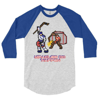 1980 USA Hockey Inspired 3/4 sleeve raglan shirt - Generation T