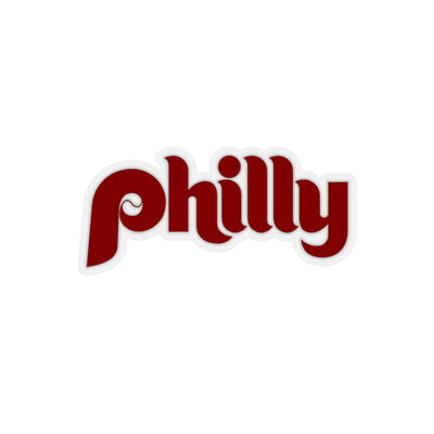 Philly Baseball Script Kiss-Cut Stickers
