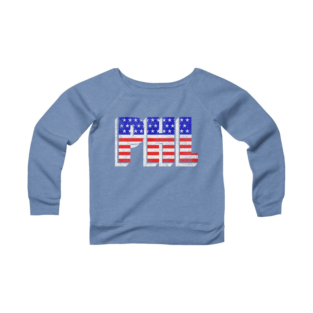 Philadelphia Patriotic Women's Sponge Fleece Wide Neck Sweatshirt