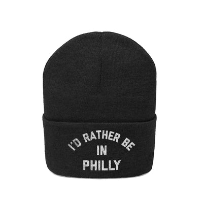 I'd Rather Be In Philly Embroidered Knit Beanie