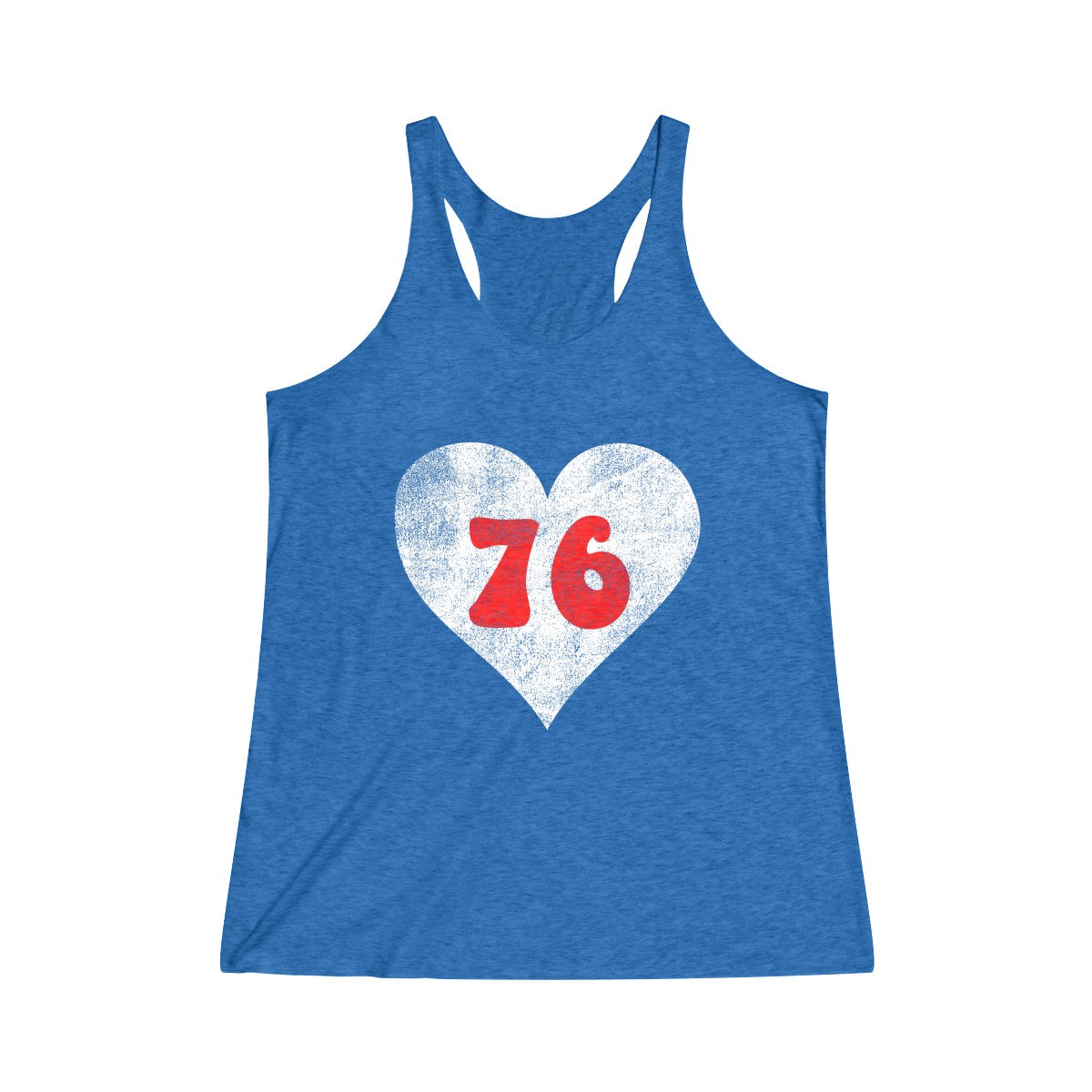 Philly 76 Love Royal Women's Tri-Blend Racerback Tank
