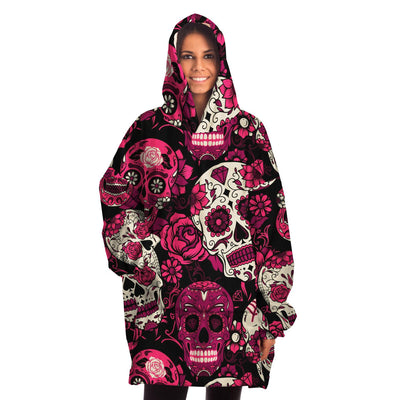 Sugar Skull Adult All Over Print Snug Hoodie