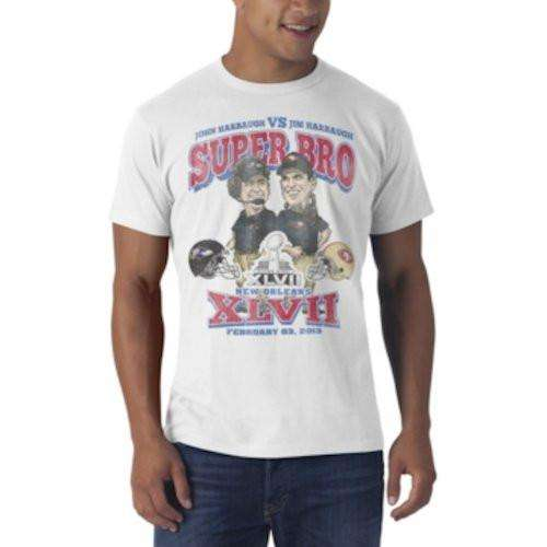 47 Brand Super Bowl XLVII Super Bro Harbaugh Mens T-Shirt