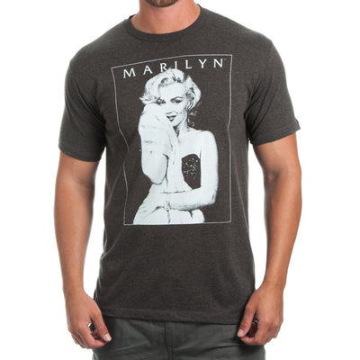 Marilyn Monroe Men's Charcoal Heather T-Shirt